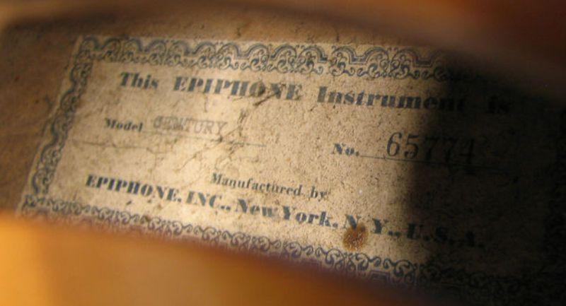 Century 65774 label