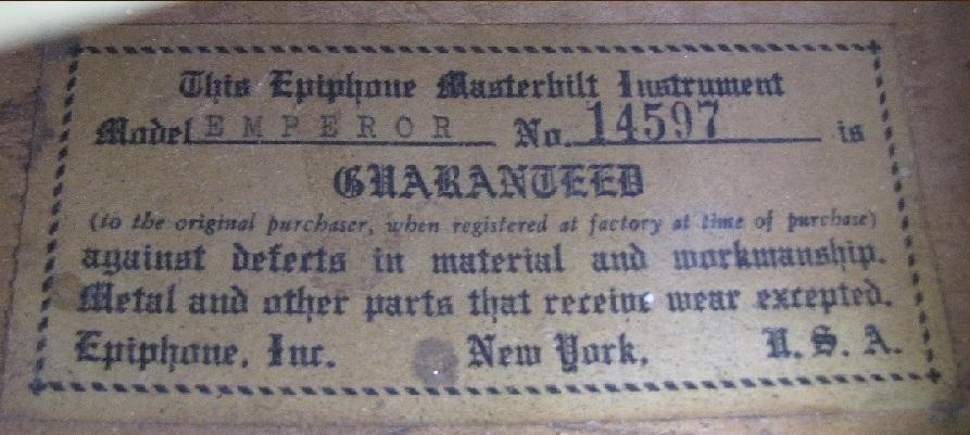 Emperor 14597 label