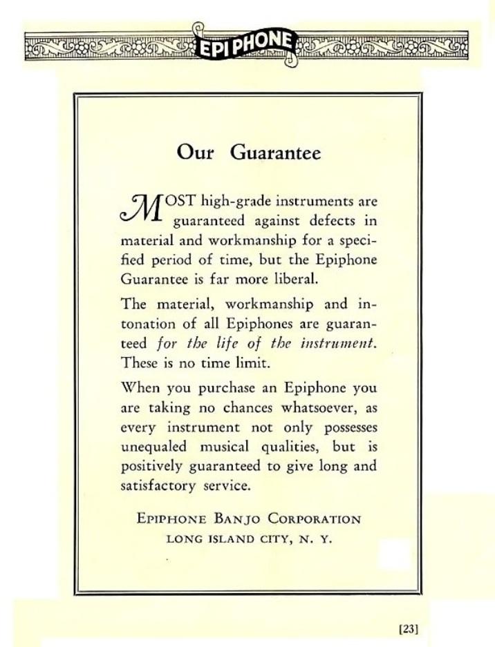 Catalogus 1932 guarantee