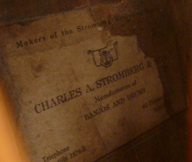 Stromberg label 1