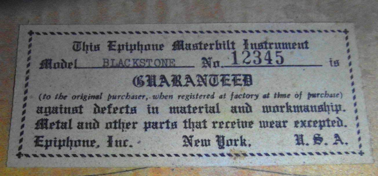 Blackstone 12345 label