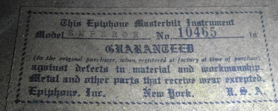 Emperor 10465 label