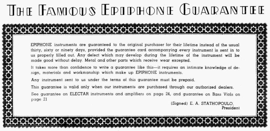 Catalogus 1941 guarantee