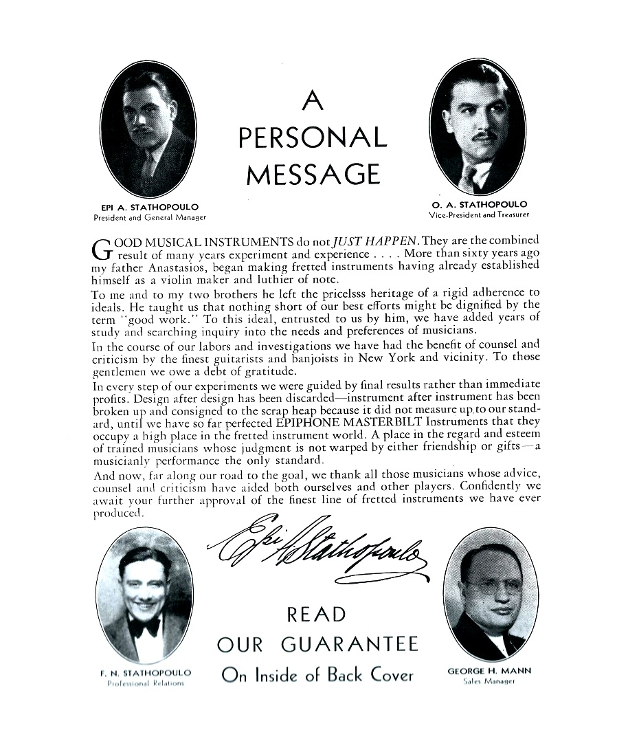 Personal message 1934