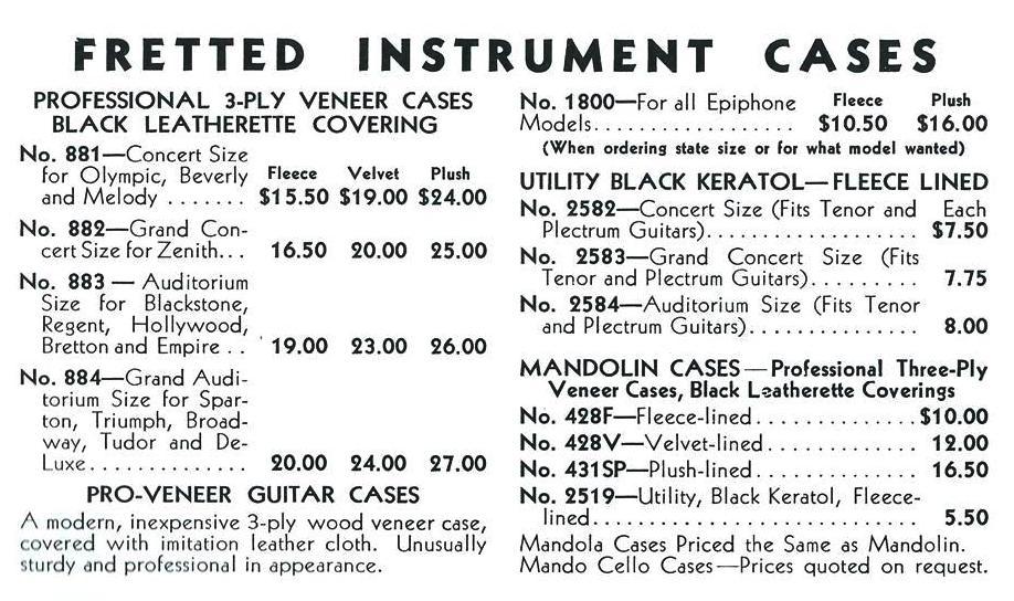 cases catalog 1934