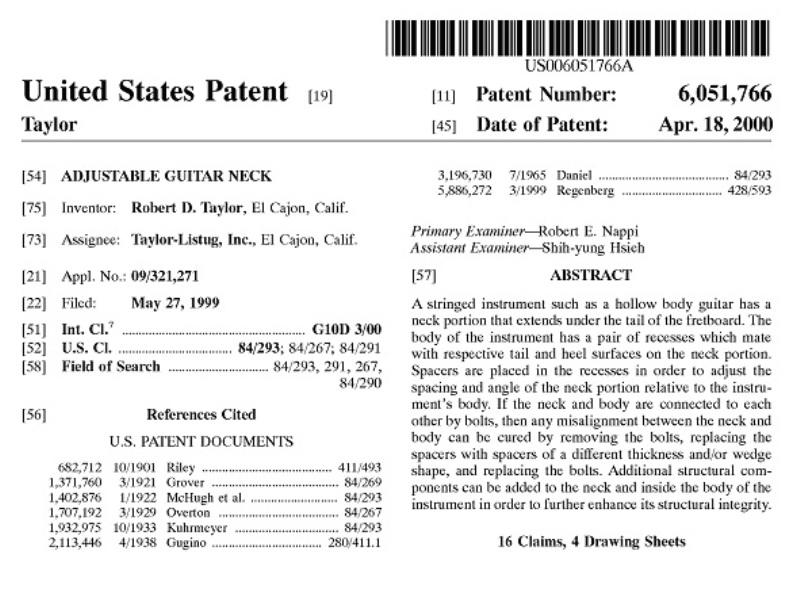 patent taylor