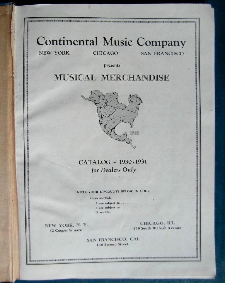 CMC 1930 titelpagina